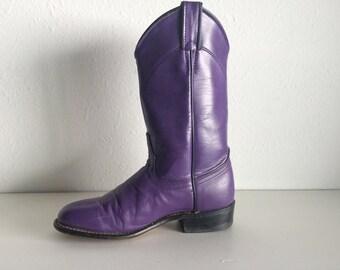 Vintage Purple Laredo Cowboy Boots 6.5