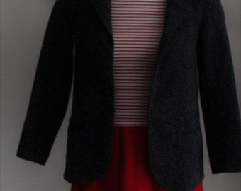 Blazer, Jacket, Grey, Speckled Tweed, Size Small