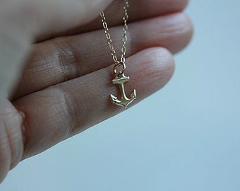Gold Anchor Necklace . Anchor Necklace. Anchor Jewelry. Nautical Jewellery. Beach Necklace. Anchor Jewelry. Gift for Her