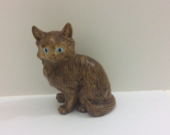 Handmade cat figurine