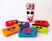 Halloween Travel Cup Cosies / Pumpkin / Jack Skellington / Frankenstein's Monster / Odd Monsters / Cup Cosy Cozies Cozy / Ready To Ship