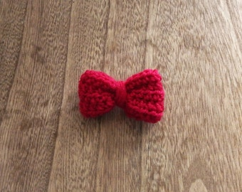 Hot Pink Crocheted Hair Clip