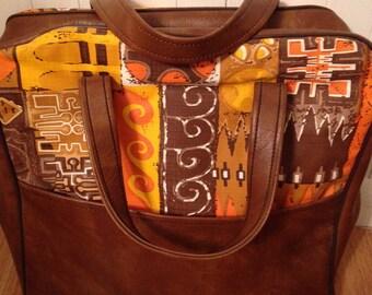 Vintage Funky Brown & Orange Bag