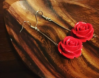 Red Rose earrings. Crafting-therapy Collection