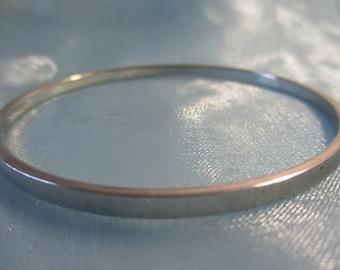 Monet Silver Tone Bangle Bracelet
