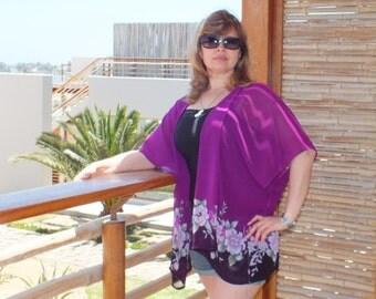 Kaftan Jacket, caftan, plus size caftan dress, chiffon  beach wedding honeymoon kaftan cover up dress,mini kaftan