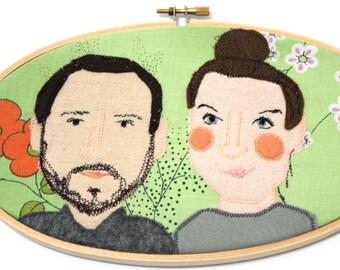 Portrait von zwei Personen Freundinnen Paaren Kindern