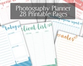 "Photographer's Planner Printable, 8.5""x11"" letter size pdf printables pages, Organizer photography, pdf printables, 28 page wedding portrait"