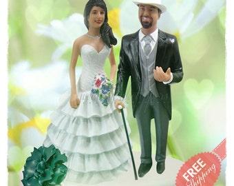 Humorous wedding cake topper Personalised cake topper Unique wedding cake topper Custom cake topper Bride and groom cake topper Wedding gift