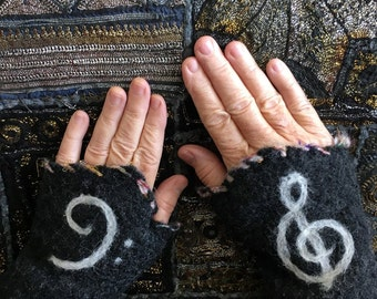 Felted musician's mitts