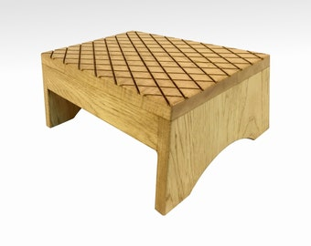 Step Stool in Rustic Oak by Candlewood Furniture Wooden Wood Grandma Gift  sc 1 st  Etsy & Oak step stool   Etsy islam-shia.org