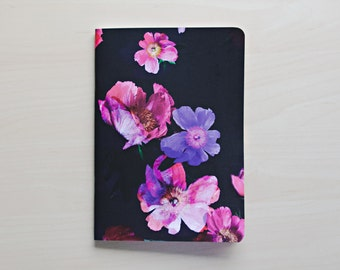 A5 Small Floral Softcover Notebook