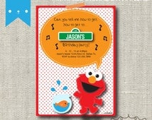Elmo Inspired Birthday Invitation DIY Digital Printable
