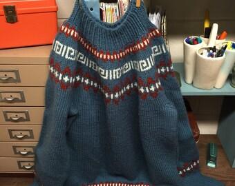Vintage Handmade Sweater Large Awesome