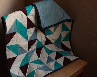 Quilt - handmade, modern, geometric