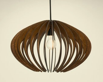 wood Pendant Light lasercut Chandelier l& Handmade plywood hanging ceiling cup ecological minimal modern design industrial & Wood pendant light | Etsy azcodes.com