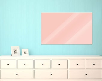 Magnetic Board glass magnetic Board wall panel for floor Pastel pink plain modern