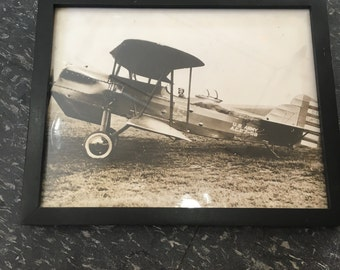 WWI USAF Black and White Plane Photo