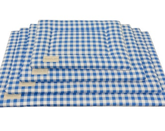 Plaid Crate Mat | Pet Pad | Dog Crate Bed | Water Resistant | Kennel Pad | Luxury Dog Mat | Puppy Mat | Small | Medium | Large | XL Mats