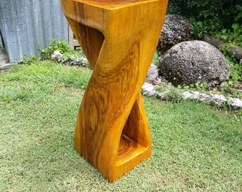 twisted stool side table