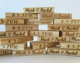 Add On Item- Engraving of the Pieces for the Custom Jenga Set