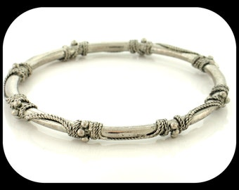 Vintage India Bridal-Style Silver Plated BANGLE BRACELET 25.90GR