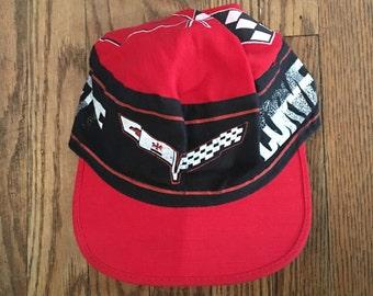 Vintage Chevrolet Corvette Hat Painters Baseball Cap