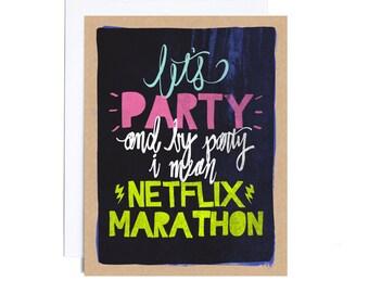 Card // Netflix Marathon