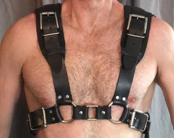 Custom Built 100% Leather Paratrooper-Style Torso Harness