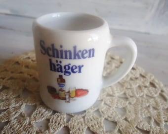 Miniature porcelain a beer mug, collector's  a beer mug