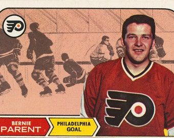 Bernie Parent 1968 - 1969 Topps #89 Rookie Philadelphia Flyers Hockey Card