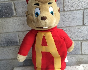 Vintage 1993 Alvin and the Chimpmunks Hand Puppet, Alvin Handpuppet