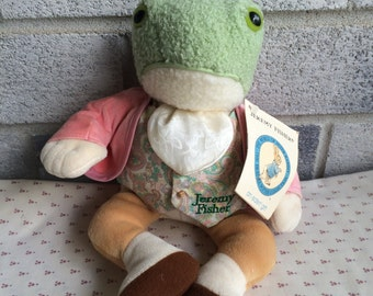 1996 Eden Jeremy Fisher Plush, Frog Beatrix Potter Peter Rabbit With Tag
