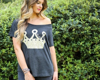 Who Dat Ladies Crown Tee