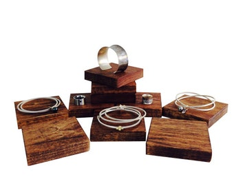 Jewelry display risers, bracelet display, ring display, craft show display, store display R101