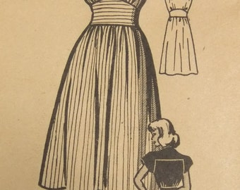 Anne Adams Dress Pattern Vintage