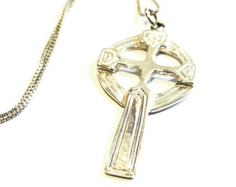 Cross Large Pendant Necklace Sterling Silver