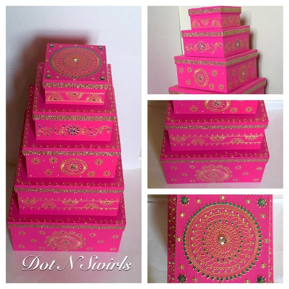 Wedding Reception Gift Card Post Box : boxes/wedding gift box set/gift card box/money box/indian wedding ...
