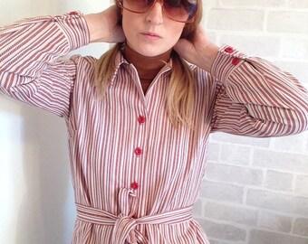 Seventies Jersey Stripe Blouse