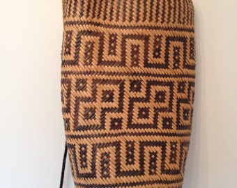 Vintage Rafia/ Wicker Backpack/ Rucksack
