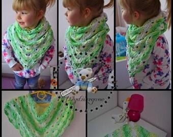 crochet scarf 100% cotton