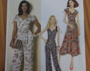 sewing pattern butterick 6320 bodysuit jumpsuit  size 6 to 14