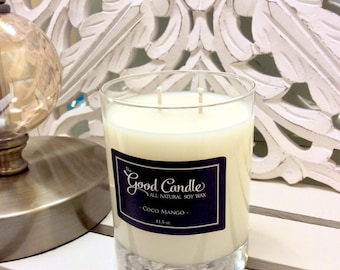 Coco Mango - Double Wick Soy Wax Candle