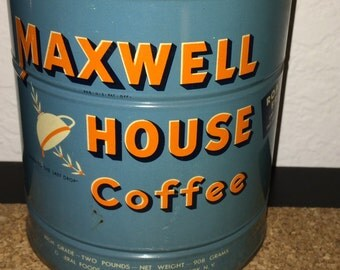 Maxwell House antique coffee can