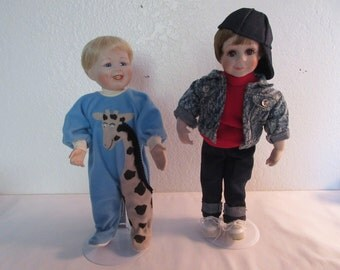 Vintage Adorable Porcelain Boy Dolls