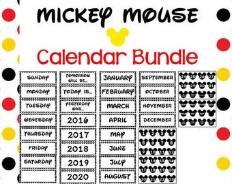 Mickey Mouse Calendar PRINTABLE