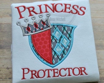 Princess protector shirt, Big brother shirt, Big brother to a princess, Little brother shirt, Knight birthday shirt, Boys knight shirt