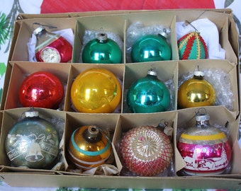 Vintage Christmas Ornaments - 12