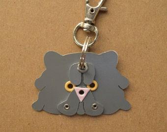 Persian Pet Tag Cat ID Metal Keychain