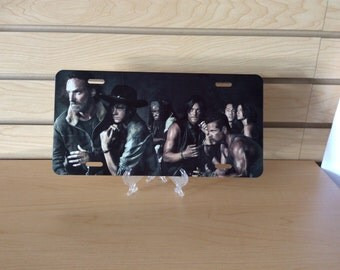 The Walking Dead Novelity License Plate, Made To Order.